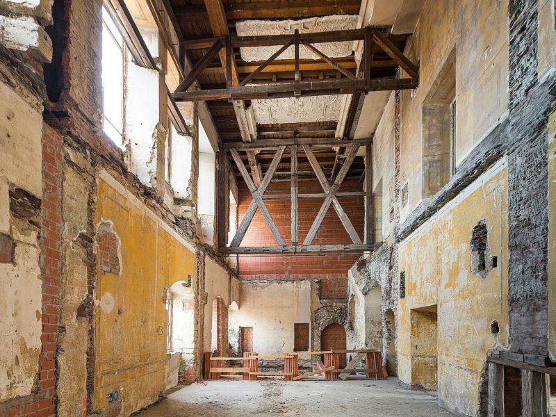 Emporensaal im Schloss-Hauptgebäude im Zustand 2019