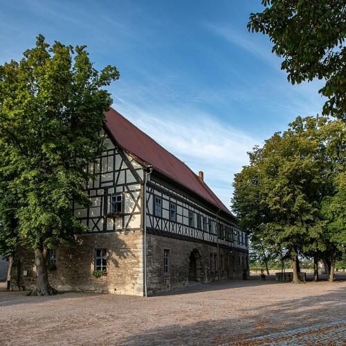 Burg Weißensee mit zentralem Burghof